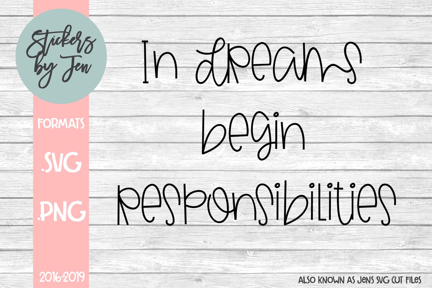 Download Free In Dreams Begin Responsibility Svg Graphic By Stickers By for Cricut Explore, Silhouette and other cutting machines.