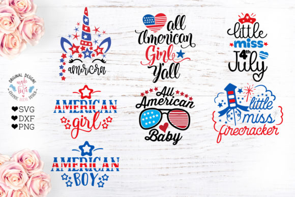 Print on Demand: Independence Day Baby Designs Graphic Crafts By GraphicHouseDesign