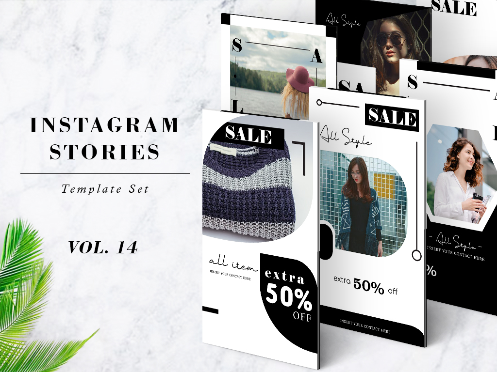 Download Free Instagram Stories Template Pack Vol 14 Graphic By Lukman for Cricut Explore, Silhouette and other cutting machines.