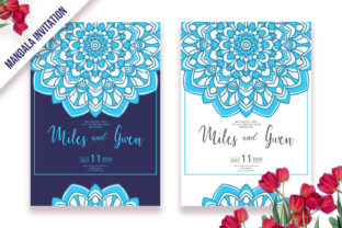 Download Free Invitation Template Mandala Ornament Graphic By Dwikrisdiantoro9 for Cricut Explore, Silhouette and other cutting machines.