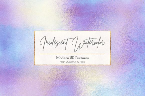 Iridescent Watercolor Backgrounds Graphic Backgrounds By Creative Paper