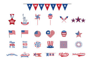 Print on Demand: Isolated 4th of July Design Elements Graphic Crafts By 3rieartstudio