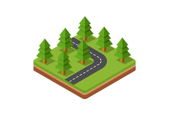 Download Free Isometric Trees Grafico Por Alexzel Creative Fabrica for Cricut Explore, Silhouette and other cutting machines.