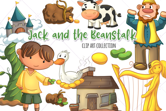 Print on Demand: Jack and the Beanstalk Graphic Illustrations By Keepinitkawaiidesign