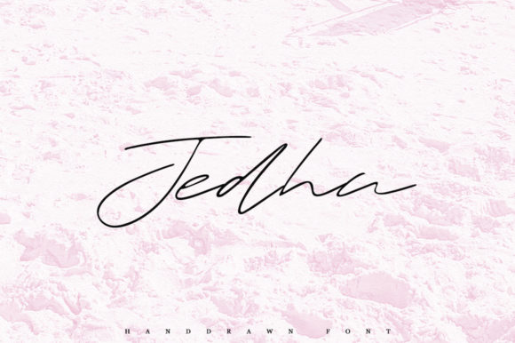 Print on Demand: Jedha Script & Handwritten Font By Katie Holland