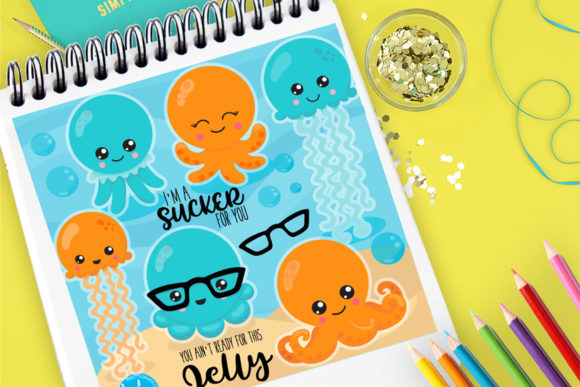 Print on Demand: Jellyfish Family Graphic Illustrations By Prettygrafik