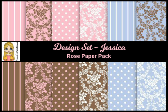 Jessica - Rose Paper Pack Graphic By Aisne