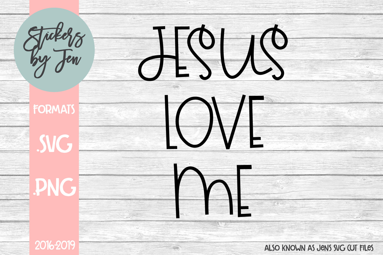 Download Free Jesus Loves Me Svg Graphic By Stickers By Jennifer Creative for Cricut Explore, Silhouette and other cutting machines.