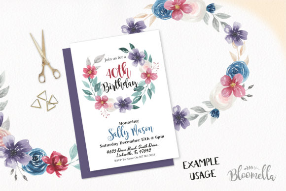 Download Free Jewel 9 Flower Wreaths Floral Tones Graphic By Bloomella for Cricut Explore, Silhouette and other cutting machines.