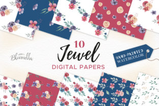 Jewel Digital Papers Seamless Patterns Graphic By Bloomella