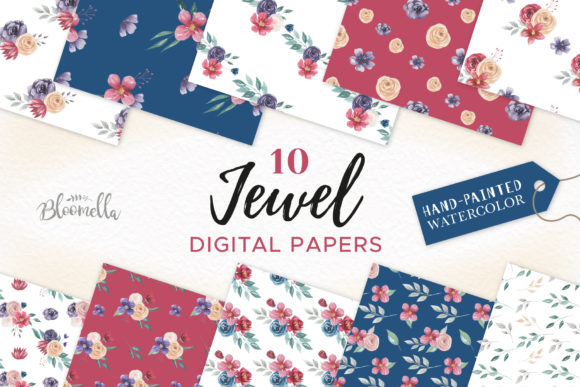 Download Free Rose Garden Pink Watercolor Flower Set Graphic By Bloomella for Cricut Explore, Silhouette and other cutting machines.