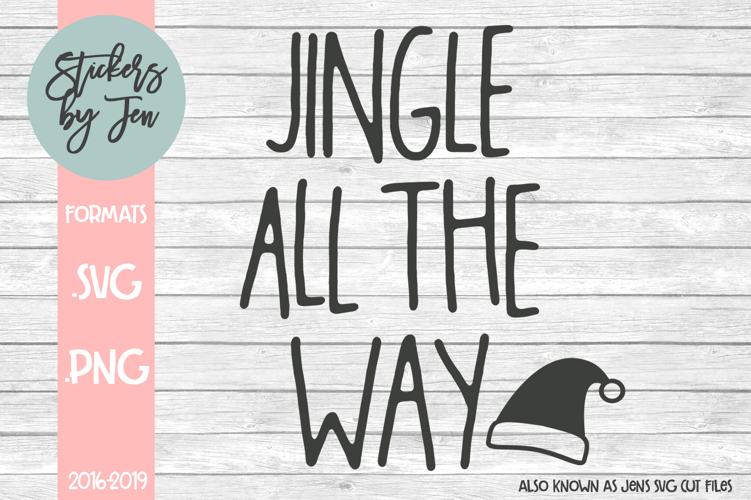 Download Free Jingle All The Way Svg Graphic By Stickers By Jennifer for Cricut Explore, Silhouette and other cutting machines.