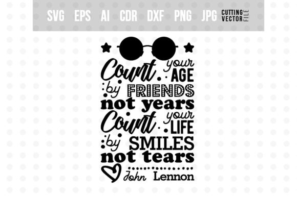 John Lennon's Quote - Typography Design Graphic Crafts By danieladoychinovashop