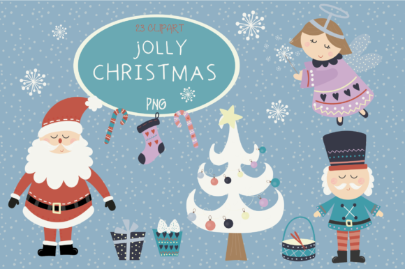 Print on Demand: Jolly Christmas Time Graphic Illustrations By poppymoondesign