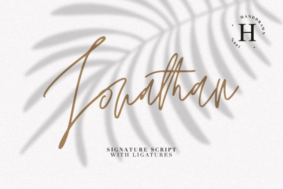 Print on Demand: Jonathan Script & Handwritten Font By Dmitrii Chirkov - Image 1