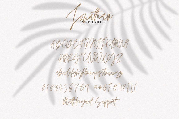 Print on Demand: Jonathan Script & Handwritten Font By Dmitrii Chirkov - Image 8