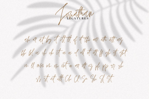 Print on Demand: Jonathan Script & Handwritten Font By Dmitrii Chirkov - Image 9