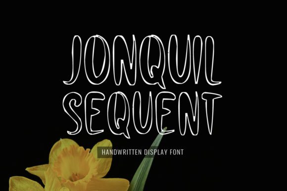 Print on Demand: Jonquil Sequent Display Font By Nuovo Tocco