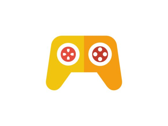 Joystick Flat Color Vector Icon Graphic By tutukof