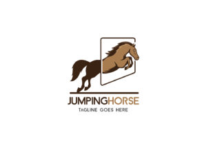 Jumping Horse Graphic By da_only_aan