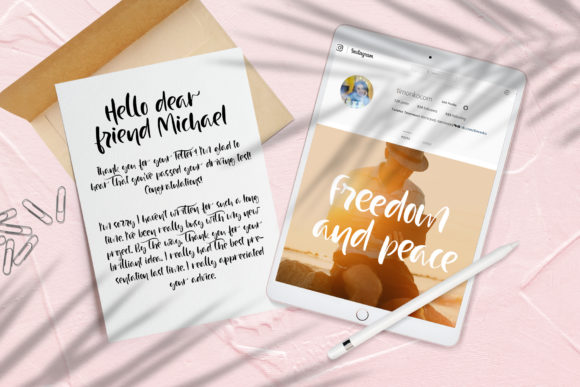 Print on Demand: Just Case Script & Handwritten Font By Happy Letters - Image 3