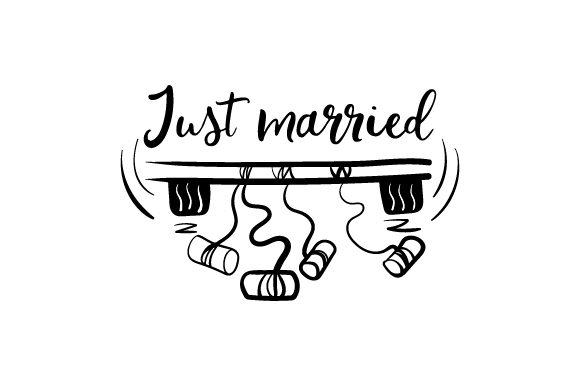 Just Married Wedding Craft Cut File By Creative Fabrica Crafts