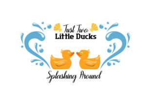 Just Two Little Ducks Splashing Around Craft Design By Creative Fabrica Crafts