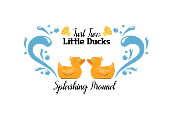 Just Two Little Ducks Splashing Around Kids Craft Cut File By Creative Fabrica Crafts - Image 1