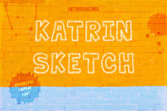 Print on Demand: Katrin Sketch Display Font By Anastasiia Macaluso