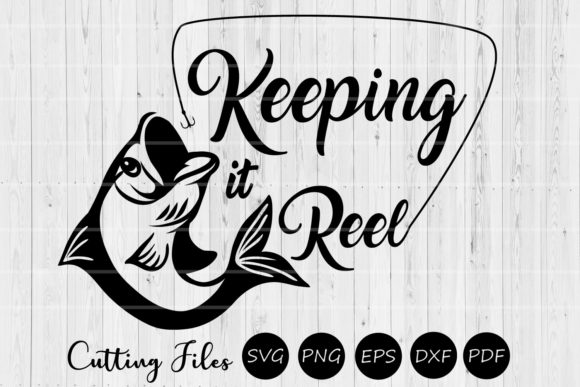 Download Free Keeping It Reel Summer Fishing Svg Graphic By Hd Art Workshop for Cricut Explore, Silhouette and other cutting machines.