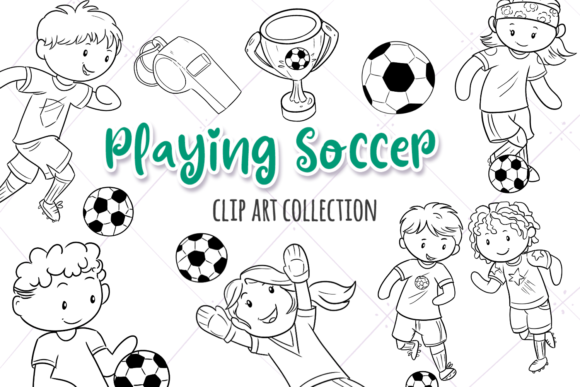 Download Free Gymnastics Kids Clip Art Collection Graphic By for Cricut Explore, Silhouette and other cutting machines.