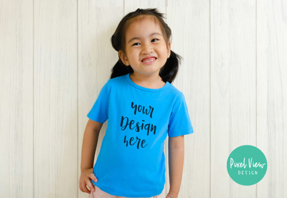 Print on Demand: Kid's Tshirt Mockup Graphic Product Mockups By Pixel View Design