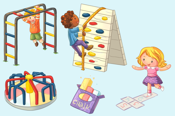 Download Free Kids On The Playground Graphic By Keepinitkawaiidesign for Cricut Explore, Silhouette and other cutting machines.