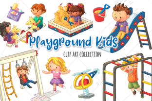 Print on Demand: Kids on the Playground Graphic Illustrations By Keepinitkawaiidesign