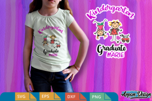 Download Free Kindergarten Graduation Graphic By Arpondesign Creative Fabrica for Cricut Explore, Silhouette and other cutting machines.
