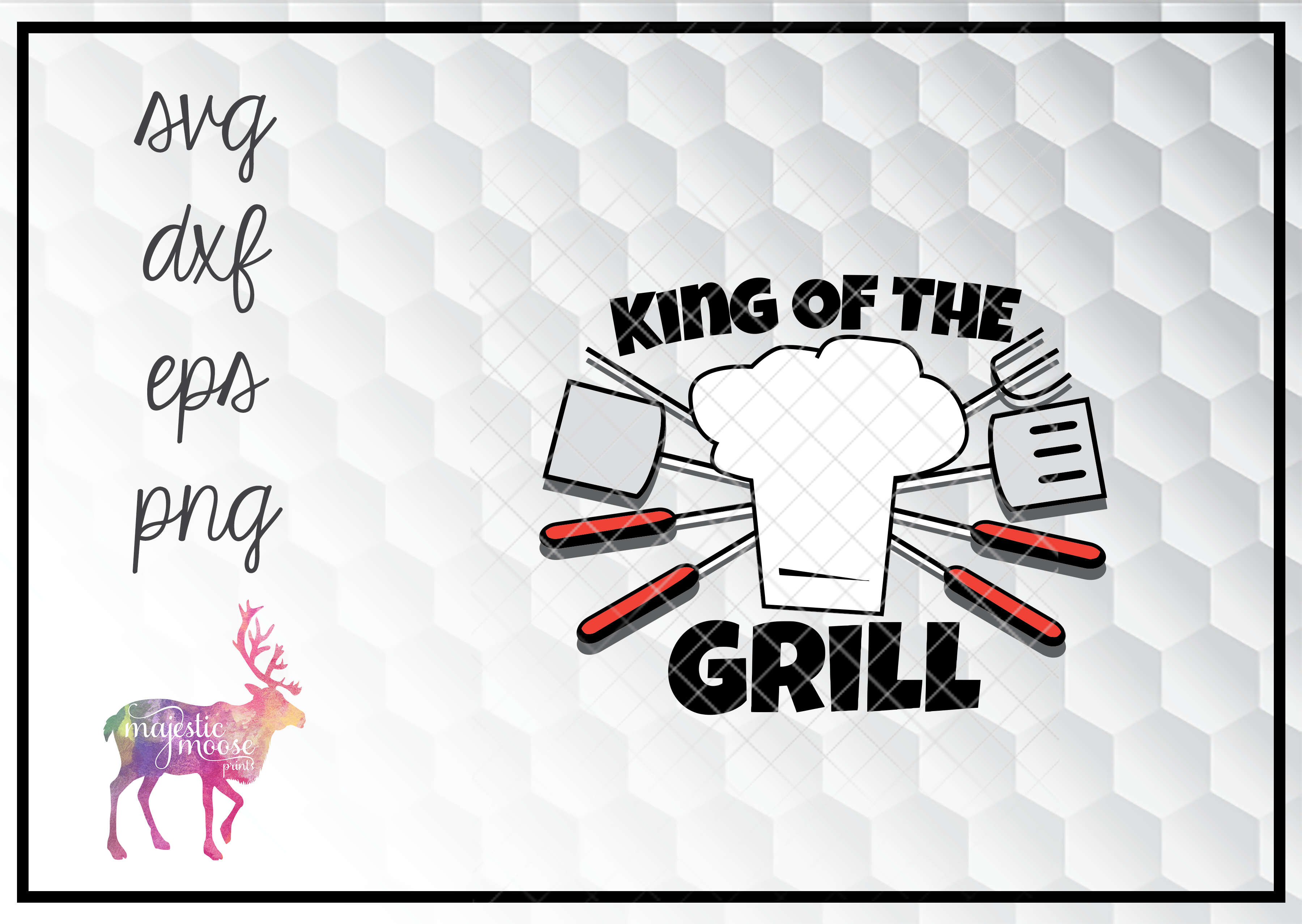 Free The food my food eats for breakfast. King Of The Grill Father S Day Svg Graphic By Majesticmooseprints Creative Fabrica SVG, PNG, EPS, DXF File