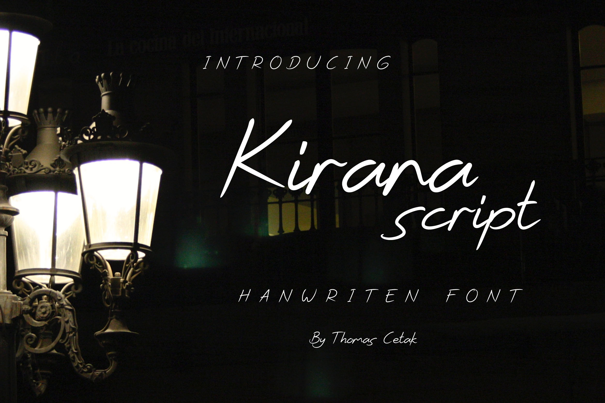 Download Free Kirana Script Font By Thomascetak Creative Fabrica for Cricut Explore, Silhouette and other cutting machines.