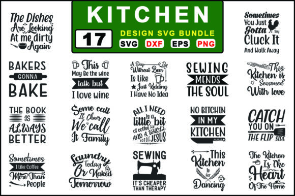 Kitchen Svg Bundle Graphic Crafts By graphiccyle