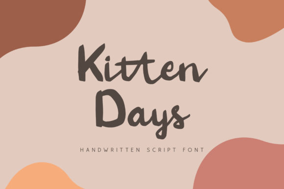 Print on Demand: Kitten Days Script & Handwritten Font By craftsupplyco