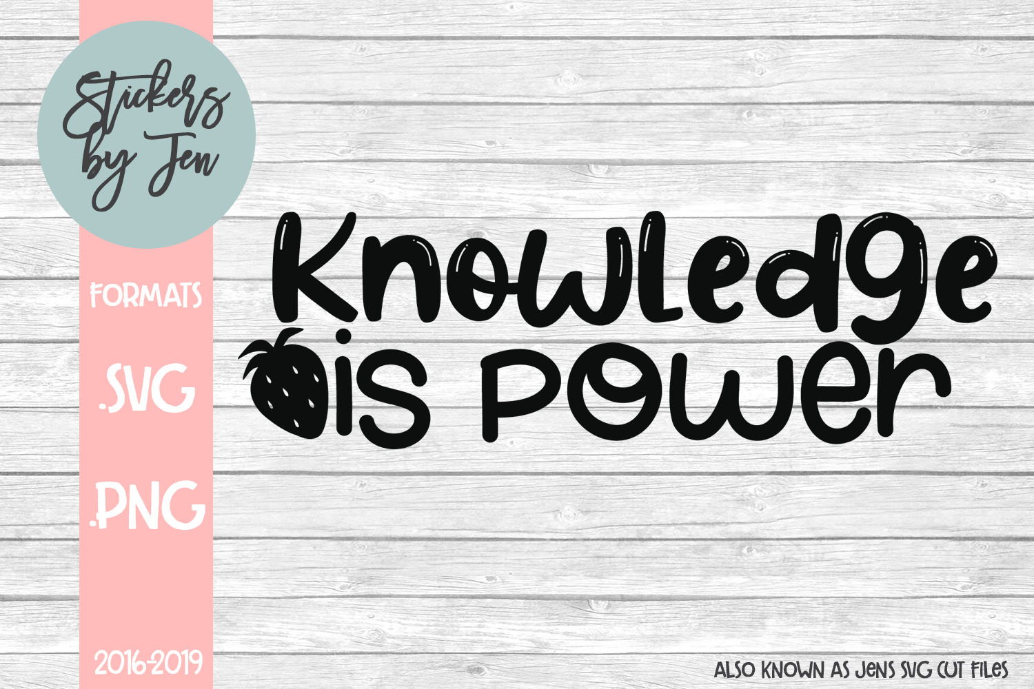 Download Free Knowledge Is Power Svg Graphic By Stickers By Jennifer for Cricut Explore, Silhouette and other cutting machines.