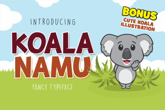 Print on Demand: Koala Namu Display Font By fachranheit