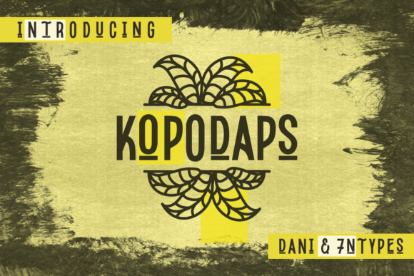 Print on Demand: Kopodaps Display Font By Dani (7NTypes)