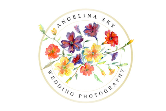 Print on Demand: LOGO with Wildflowers Watercolor Png Graphic Illustrations By MyStocks - Image 5