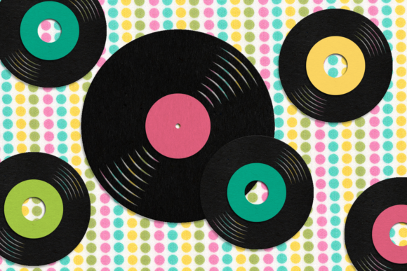 LP Album and 45 Record  Graphic Crafts By DesignedByGeeks