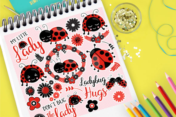 Print on Demand: Ladybug Clip Art Graphic Illustrations By Prettygrafik