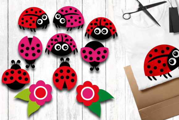 Print on Demand: Ladybugs Graphic Illustrations By Revidevi - Image 1