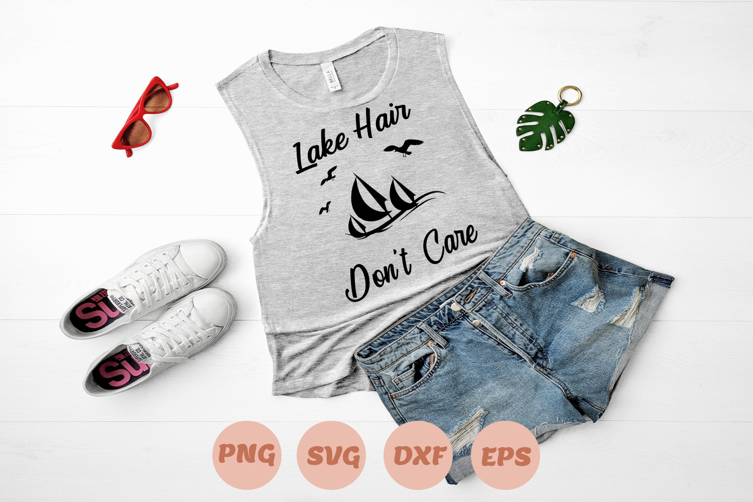 Download Free Lake Hair Don T Care Graphic By Sweet Southern Charms Creative Fabrica for Cricut Explore, Silhouette and other cutting machines.