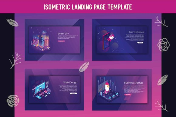 Landing Page Graphic Web Elements By AllmoStudio
