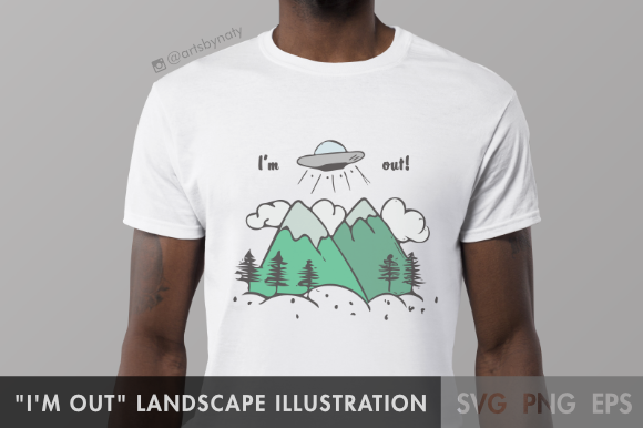 Print on Demand: Landscape Illustration Graphic Illustrations By artsbynaty - Image 2