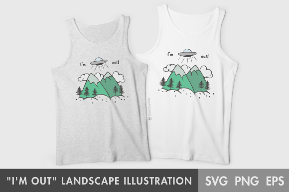 Print on Demand: Landscape Illustration Graphic Illustrations By artsbynaty - Image 3